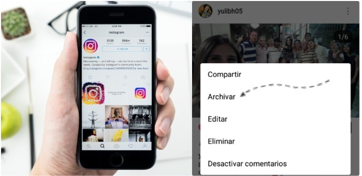 archivar fotos de instagram