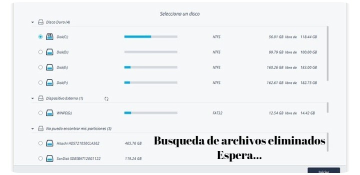recuperar archivos borrados con recoverit escaner