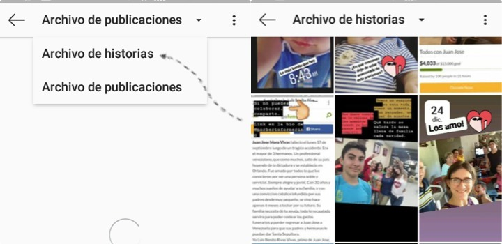 ver fotos borradas de instagram stories