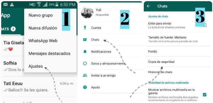 recuperar fotos borradas de whatsapp sin root copia de seguridad