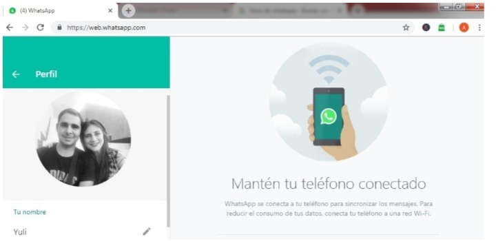 recuperar fotos de whatsapp con la version web